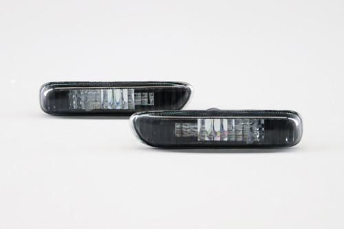 Side indicators set crystal black BMW 3 Series E46 98-01