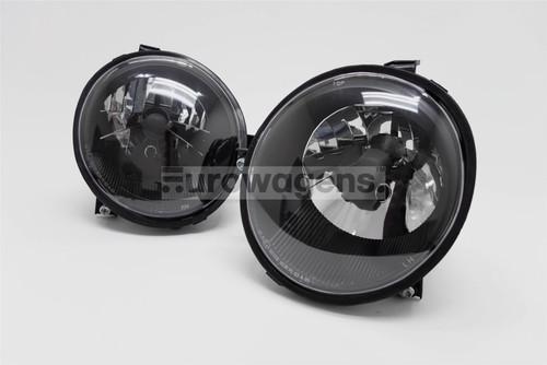 Headlights set black VW Lupo 98-05