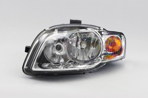 Headlight left chrome with orange indicator Audi A4 B7 04-07