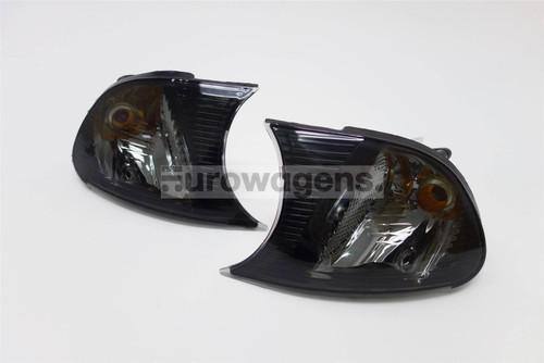 Front indicators set black BMW 3 Series E46 01-03 2 door