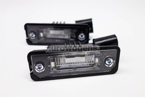 Number plate lights set LED VW Eos Golf MK5 Passat CC Phaeton Polo