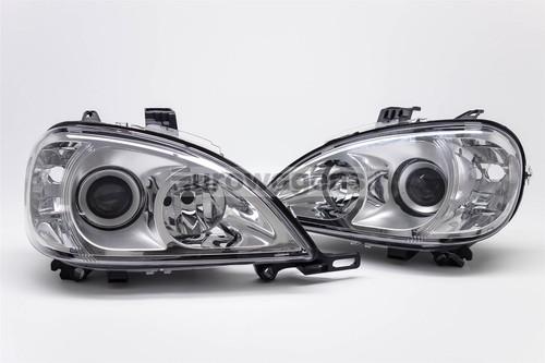 Chrome headlights set Mercedes-Benz ML W163 98-01