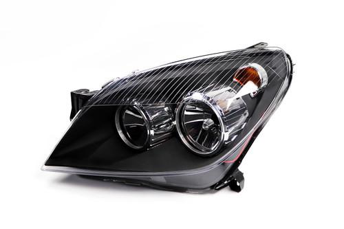 Headlight left black Vauxhall Astra H 04-07