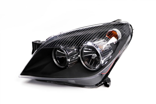 Headlight left black Vauxhall Astra H 04-07