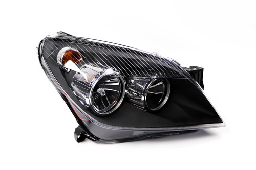 Headlight right black Vauxhall Astra H 04-07