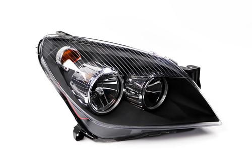 Headlight right black Vauxhall Astra H 04-07