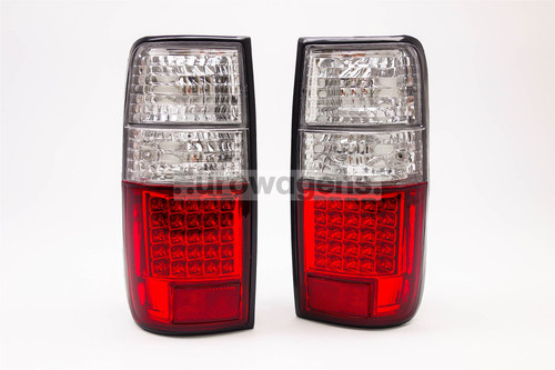 Rear lights set LED red clear Toyota Land Cruiser HDJ80 91-98
