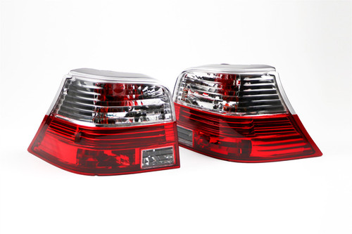 Rear lights set crystal red VW Golf MK4 98-04
