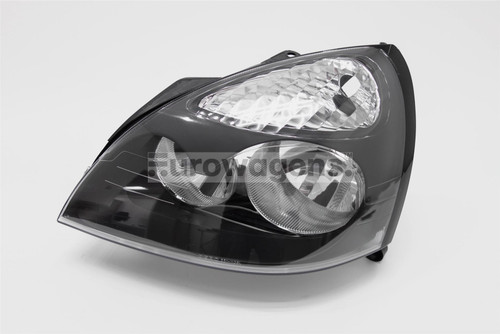 Headlight left black Renault Clio MK2 01-05 Hatchback