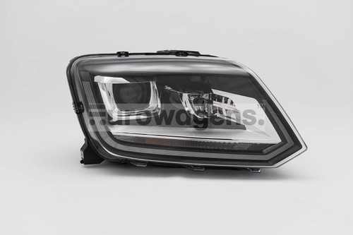 Headlight right black bi xenon LED DRL VW Amarok 14-