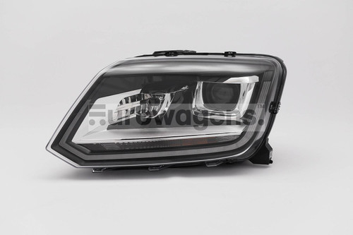 Headlight left black bi xenon LED DRL VW Amarok 14-