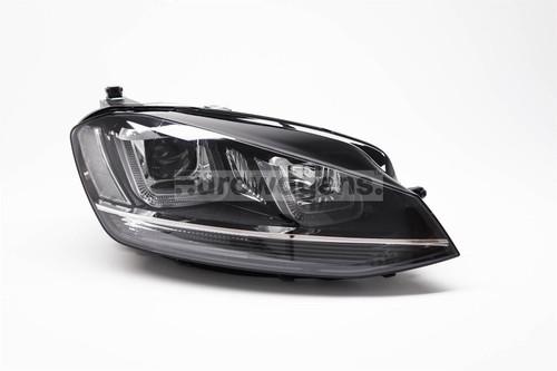 Headlight right black bi xenon LED DRL AFS VW Golf MK7 12-16