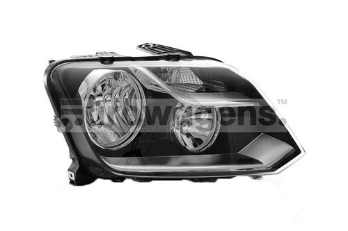 Headlight right black VW Amarok 13-