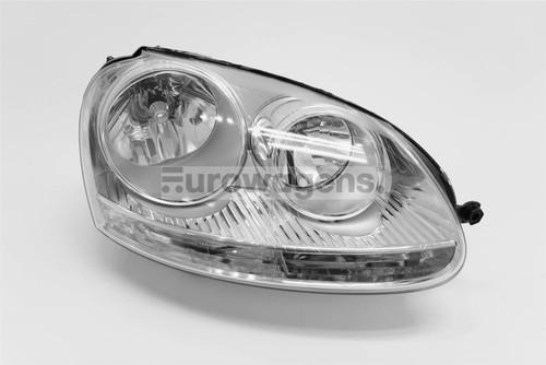 Headlight right chrome VW Golf MK5 GTI Jetta MK3