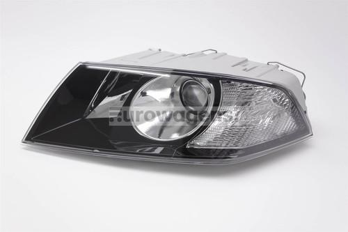 Headlight left projector black Skoda Octavia 05-08