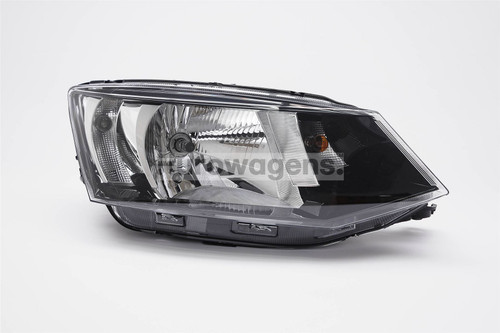 Headlight right black Skoda Fabia 15-17