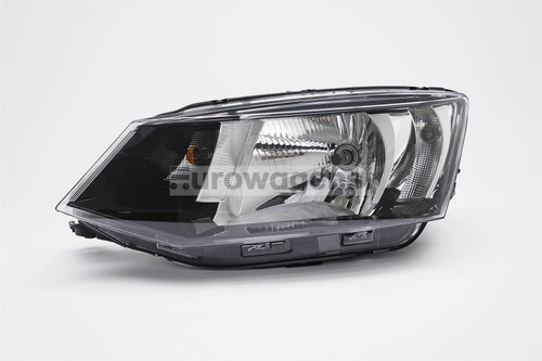 Headlight left black Skoda Fabia 15-17