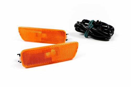 Sidemarker lights set orange VW Golf MK4 Bora With Loom