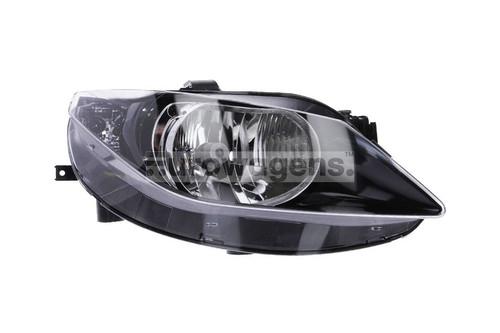 Headlight right black Seat Ibiza 08-11