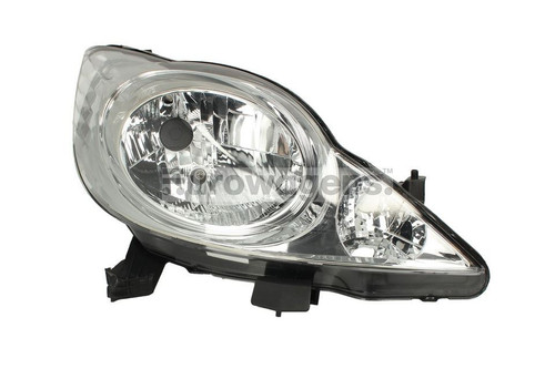 Headlight right Peugeot 107 05-12