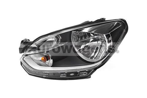 Headlight left chrome VW Up 11-16