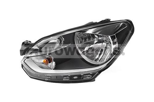 Headlight left chrome VW Up 11-16