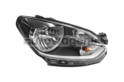 Headlight right chrome VW Up 11-16