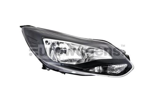Headlight right black Ford Focus 11-13