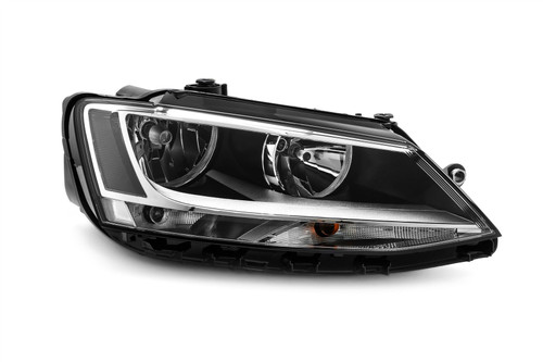 Headlight right black VW Jetta MK4 11-18