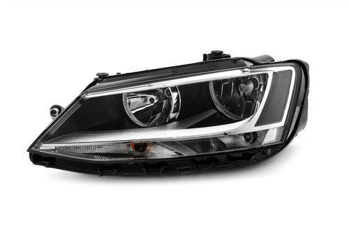 Headlight left black VW Jetta MK4 11-18