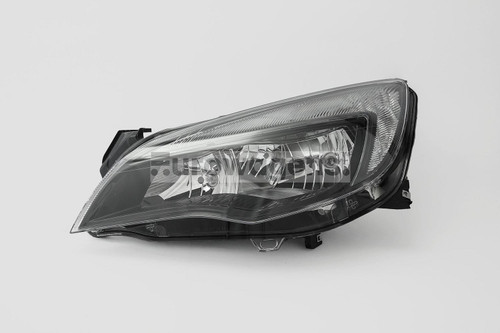 Headlight left black DRL Vauxhall Astra J MK6 10-12