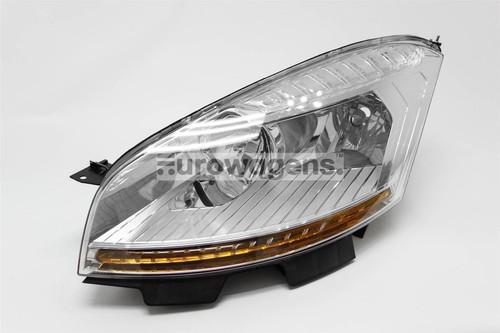 Headlight left Citroen C4 Picasso 07-10 Hella