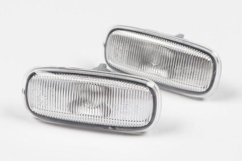 Side indicators set clear Audi A2 00-05