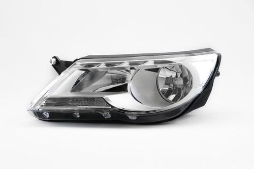 Headlight left chrome VW Tiguan 07-11 Hella
