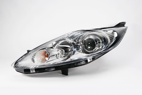 Headlight left projector chrome Ford Fiesta MK6 08-12