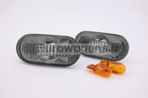 Side indicators set crystal smoked Renault Clio MK1 95-97