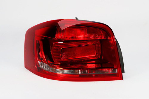 Rear light left red Audi A3 08-10 3 door