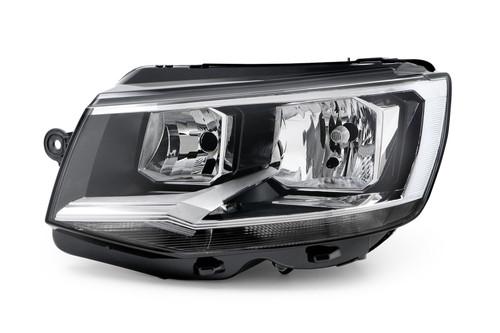 Headlight left black VW Transporter T6 16-19