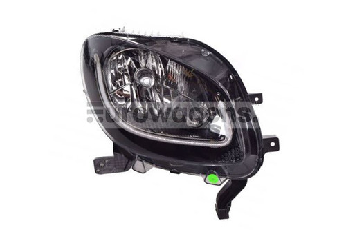 Headlight right black LED DRL Smart ForTwo Highline15-17