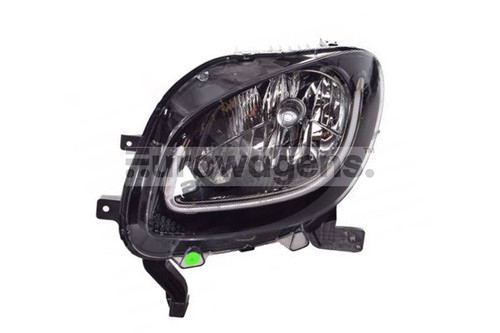 Headlight left black LED DRL Smart ForTwo Highline 15-17
