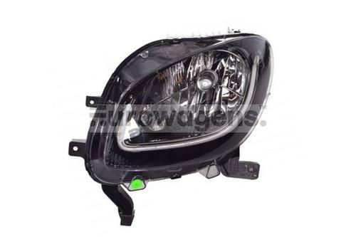 Headlight left black LED DRL Smart ForTwo Highline 15-17