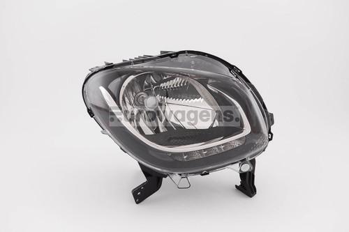 Headlight right black LED DRL Smart ForFour Highline 15-17