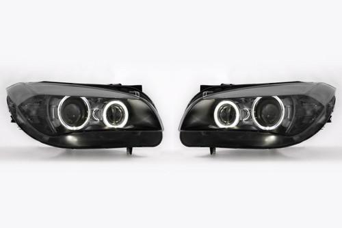 Angel eyes headlights set LED BMW X1 E84 09-12