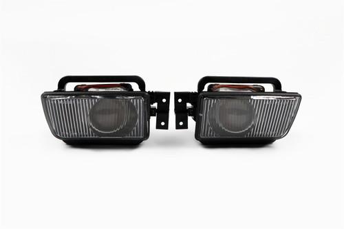 Fog lights set black BMW 5 Series E34 87-96