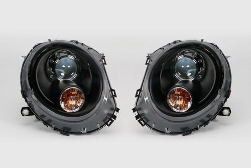 Headlight set black xenon look LED DRL Mini Cooper 06-14 LHD
