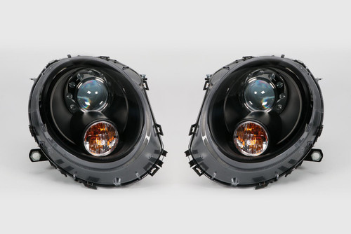 Headlight set black xenon look LED DRL Mini Cooper 06-14 LHD