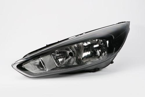 Headlight left black Ford Focus 14-17