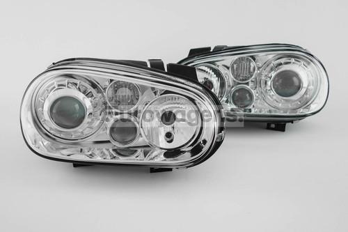 Headlights set chrome projector VW Golf MK4 97-04