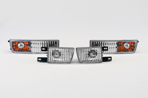 Front indicators with covers set crystal clear VW Vento 93-98