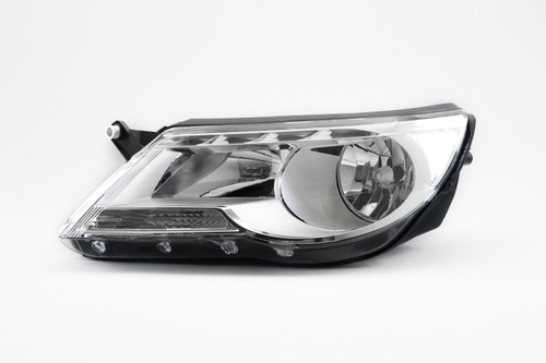 Headlight left chrome VW Tiguan 07-11